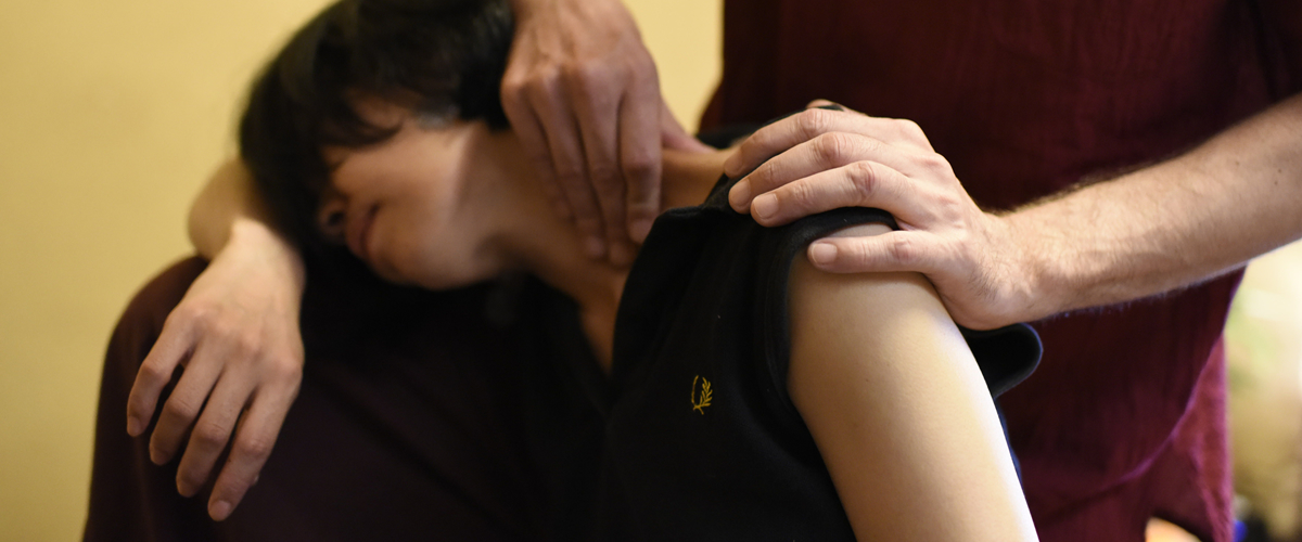 Deep relaxation of Thai massage
